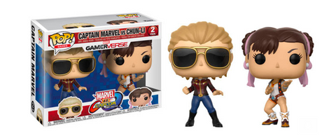 Marvel Vs Capcom: Infinite Funko Pop! Captain Marvel Vs Chun-Li (2-Pack)