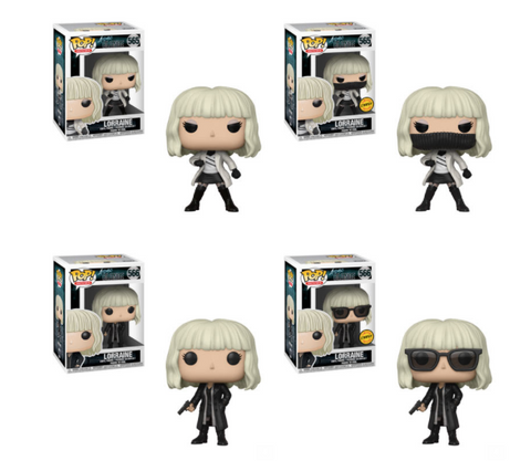 Atomic Blonde Funko Pop! Complete Set of 4 CHASES Included (Pre-Order)