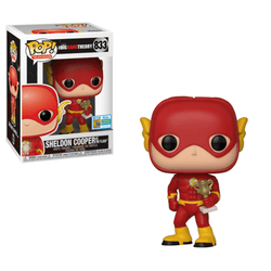 The Big Bang Theory Funko Pop! Sheldon Cooper as The Flash (Shared Sticker) #833 (Pre-Order)