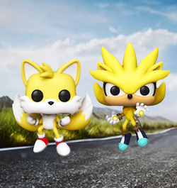 Sonic The Hedgehog Funko Pop! Super Tails & Super Silver (2-Pack) (2020 Shared Sticker) (Pre-Order)