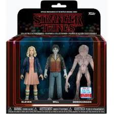 Stranger Things Funko ReAction Figure Eleven, Will, and Demogorgon (Shared Sticker)