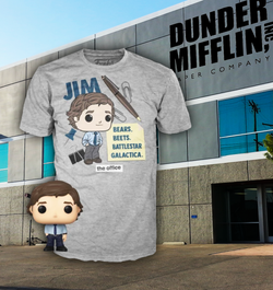 The Office Funko Pocket Pop! & Apparel Tee Jim Halpert (Pre-Order)