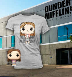 The Office Funko Pocket Pop! & Apparel Tee Pam Beesly (Pre-Order)