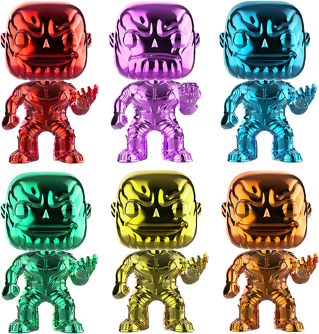 Avengers: Infinity War Funko Pop! Thanos (Chrome Bundle of 6) (Pre-Order)