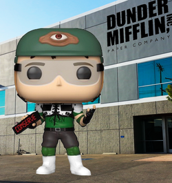 The Office Funko Pop! Dwight Schrute (Recyclops with Helmet) (2020 Shared Sticker) #1015 (Pre-Order)
