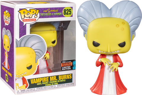 Los Simpsons-Vampiro Sr ** NYCC 2019 Pre-orden ** Burns Funko Pop