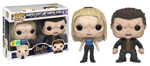 Buffy the Vampire Slayer Funko Pop! Vampire Buffy and Vampire Angel (Toy Tokyo Sticker)