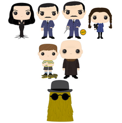 The Addams Family Funko Pop! Complete Set of 7 CHASE Included