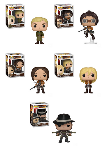 Attack on Titan Funko Pop! Complete Set of 5 Season 3 (Pre-Order)