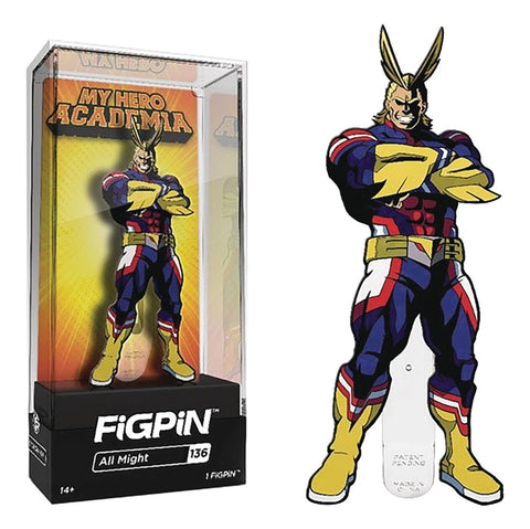 My Hero Academia FiGPiN All Might Collector Case #136