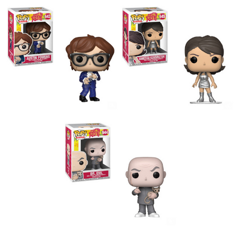 Austin Powers Funko Pop! Complete Set of 3 (Pre-Order)