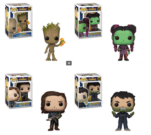 Avengers Infinity War Funko Pop! Complete Set of 4 Wave 2 (Pre-Order)