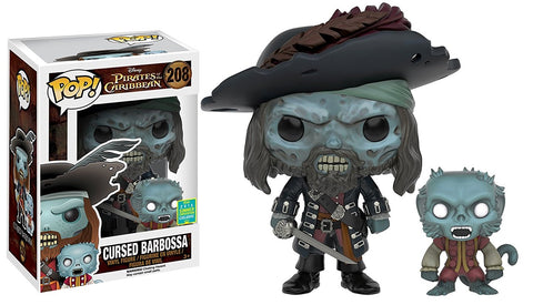 Pirates of the Caribbean Funko Pop! Cursed Barbossa (Shared Sticker) #208