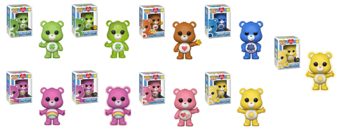 Care Bears Funko Pop! Complete Set of 9 with 3 Chase's Included (Pre-Order)