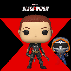 Black Widow Funko Pop! Black Widow (Grey Suit with Axes) (Pre-Order)