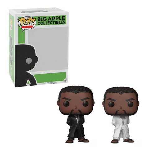 Black Panther Funko Pop! White & Black Robe Complete Set of 2 (Pre-Order)