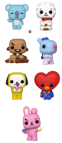 BT21 Funko Pop! Complete Set of 7 (Pre-Order)