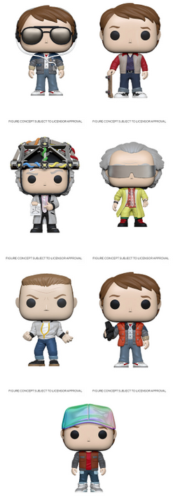 Back To The Future Funko Pop! Complete Set of 7 (Pre-Order)