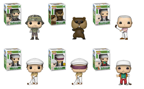 Caddyshack Funko Pop! Complete Set of 6 CHASE Included