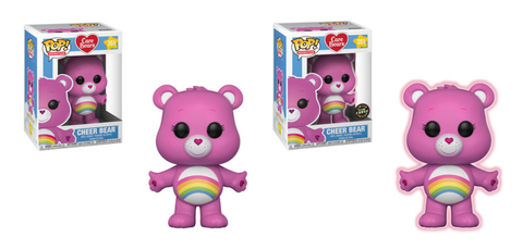 Care Bears Funko Pop! Cheer Bear CHASE & Common (Pre-Order)
