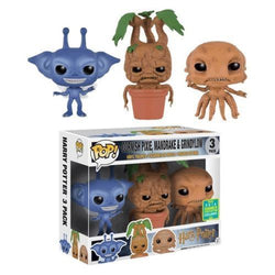 Harry Potter Funko Pop! Cornish Pixie, Mandrake, Grindylow (Shared Sticker) (3-Pack)