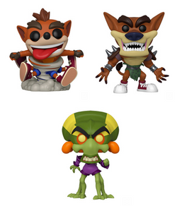 Crash Bandicoot Funko Pop! Complete Set of 3 (Pre-Order)