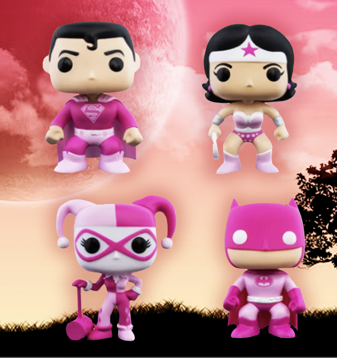 Funko Pop DC Heroes Breast Cancer Harley Quinn 2020 BCRF 352 in Hand for sale online