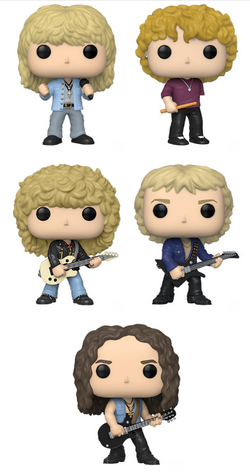 Def Leppard Funko Pop! Complete Set of 5 (Pre-Order)