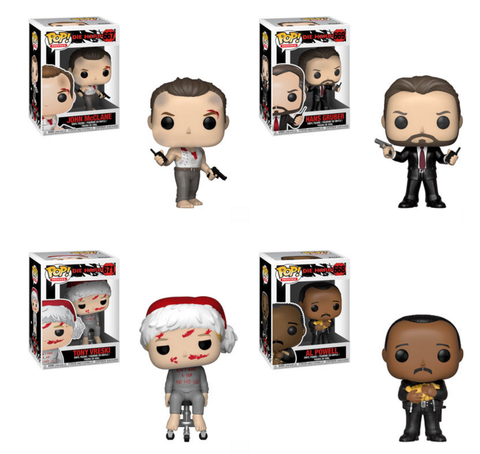 Die Hard Funko Pop! Complete Set of 4