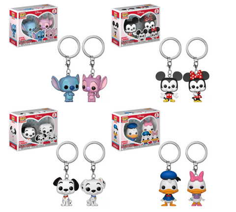 Disney Funko Pop! Keychains Complete Set of 4 (2-Packs) (Pre-Order)