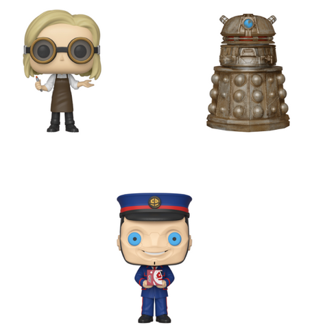 Doctor Who Funko Pop! Complete Set of 3 (Pre-Order)