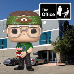 The Office Funko Pop! Dwight Schrute (Recyclops) (Shared Sticker) #938 (Pre-Order)