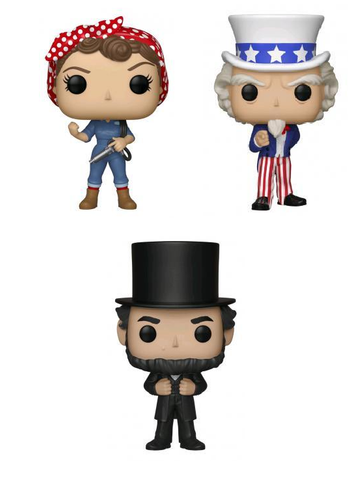American History Funko Pop! Complete Set of 3 Exclusives (Pre-Order)