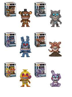 Five Nights at Freddy's Funko Pop! Complete Set of 6 Twisted Characters (Pre-Order)