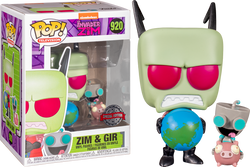Invader Zim Funko Pop! Zim (with Globe) & Gir (on Pig) #920 (Pre-Order)