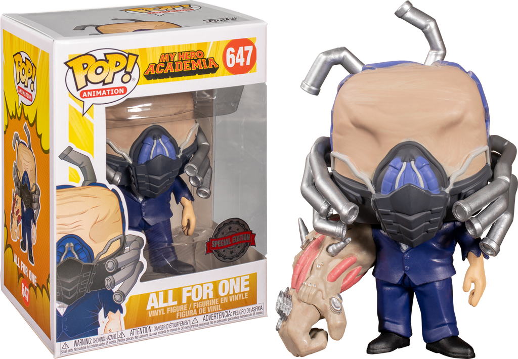 Vinyl Figure #647 My Hero Academia All for One Charged Exclusive Pop