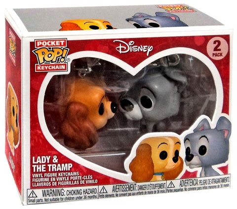Disney Funko Pop! Keychain Lady & The Tramp (2-Pack)