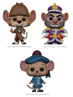 The Great Mouse Detective Funko Pop! Complete Set of 3 (Pre-Order)