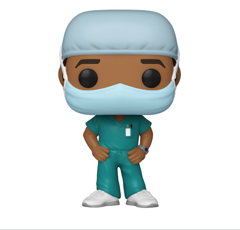 Front Line Workers Funko Pop! Male Hospital Worker (Green Scrubs) (Pre-Order)