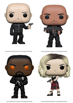 Hobbs & Shaw Funko Pop! Complete Set of 4 (Pre-Order)