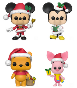 Disney Funko Pop! Complete Set of 4 Holiday (Pre-Order)