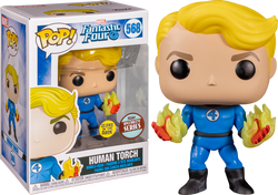 Fantastic Four Funko Pop! Human Torch (Suited) (GITD) #568