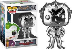 Batman: Arkham Asylum Funko Pop! The Joker (Silver Chrome) #53