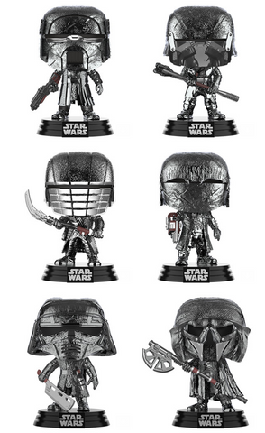 Star Wars: The Rise of Skywalker Funko Pop! Complete Set of 6 Knights of Ren (Pre-Order)