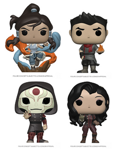 Legend of Korra Funko Pop! Complete Set of 4 (Pre-Order)