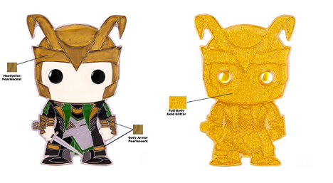 Marvel Funko Pop! Pins Loki (1 in 3 Chance of Glitter CHASE) (Pre-Order)
