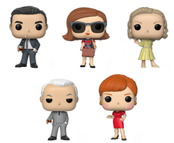 Mad Men Funko Pop! Complete Set of 5 (Pre-Order)