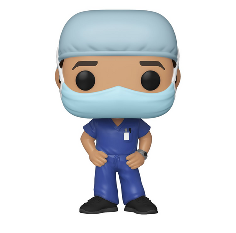 Front Line Workers Funko Pop! Male Hospital Worker (Blue Scrubs) (Pre-Order)