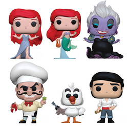 The Little Mermaid Funko Pop! Complete Set of 6 (Pre-Order)