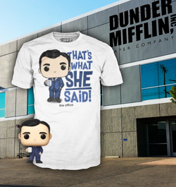 The Office Funko Pocket Pop! & Apparel Tee Michael Scott (Pre-Order)
